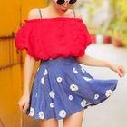 Set: Floral Bikini + Skirt + Top 1596