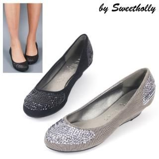 Buy Holly Shoes Faux-Suede Wedge Sequined Flats 1021342616