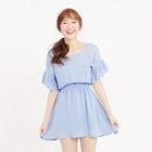 Short-Sleeve Cutout-Back Dress 1596