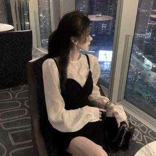 Spaghetti | V-neck | Blouse | Strap | Dress