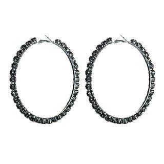 Rhinestone | Earring | Hoop