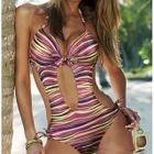Stripe Cutout Swimsuit 1596