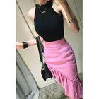 Zip-Back Ruffled Skirt 1596