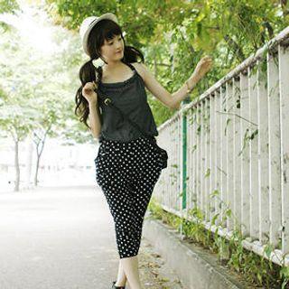 Buy Dodostyle Inset Camisole Polka Dot Jumpsuit 1022962081