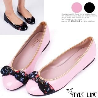 Picture of STYLE LINE Bow-Accent Patent Flats 1023031207 (Flat Shoes, STYLE LINE Shoes, Korea Shoes, Womens Shoes, Womens Flat Shoes)