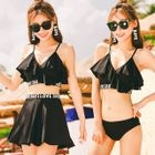 Set: Ruffled Bikini + Swim Skirt 1596