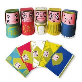 cochae-ori-daruma-postcard-5-pieces-set