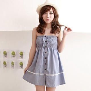 Picture of ZOO Strapless Smocked Dress 1022456966 (ZOO Dresses, Womens Dresses, Taiwan Dresses)