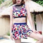 Set: Patterned Bikini Top + Skirt 1596