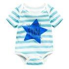 Baby Star Print Striped Bodysuit 1596