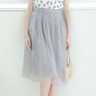 Paneled Tulle A-Line Skirt 1596