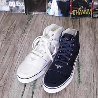 Picture of ISNOM Lace-Up High-Top Sneakers 1022896074 (Sneakers, ISNOM Shoes, Korea Shoes, Mens Shoes, Mens Sneakers)