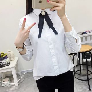 Image of Bow Neck Shirt