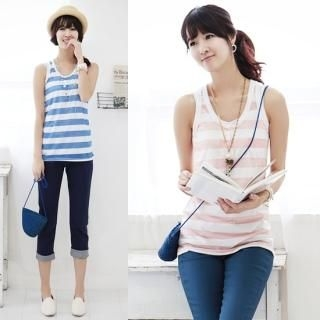 Picture of Stylementor Striped Tank Top 1022736401 (Stylementor Tees, Womens Tees, South Korea Tees)