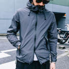 Waterproof Drawstring Hooded Windbreaker 1596