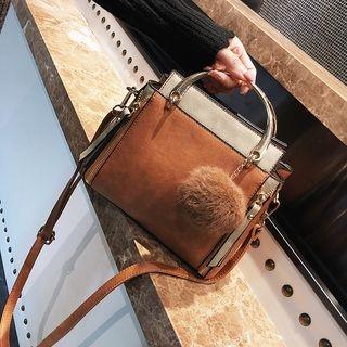 Crossbody Bag with Pompom Charm