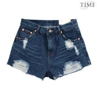 Buy TIME/X9 Distressed Denim Shorts 1022816429