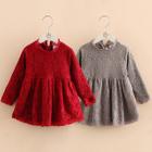 Kids Long Sleeve Lace Dress 1596
