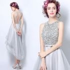 Sequined Prom Dress 1596