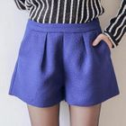 Embossed Pleated Shorts 1596