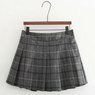 Plaid Pleated Mini Skirt 1055512454