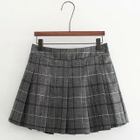 Plaid Pleated Mini Skirt 1596