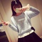 Frill Trim Sweater 1596