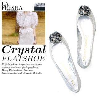 Buy LA FRESHA Jewel Accent Flats 1022283098