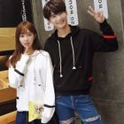 Couple Matching Colour Block Hoodie 1596