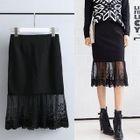 Lace-Hem Panel Skirt 1596