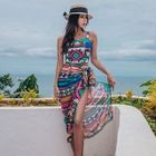 Set: Printed Swimsuit + Beach Cover-Up 1596