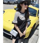Set: Striped Bell-Sleeve T-Shirt + Strappy Dress 1596