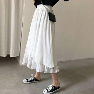 Image of Asymmetric Midi Skirt