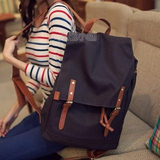 Belted Canvas Backpack