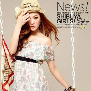 Buy Sylvia Heart Print Chiffon Dress 1022776479