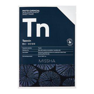 Phyto-Chemical Skin Supplement Sheet Mask (Tannin) 1pc