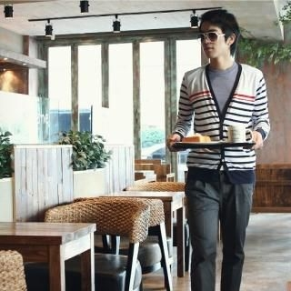 Picture of BoynMen Long-Sleeve Striped Cardigan 1022594334 (BoynMen, Mens Knits, Korea)