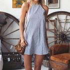 Striped Sleeveless Dress 1596