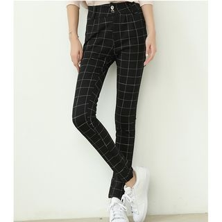 Plaid Harem Pants 1053768931