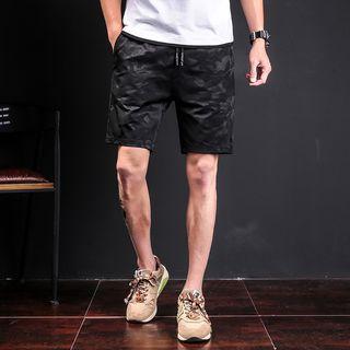 Image of Camo Drawstring Shorts
