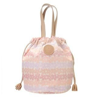Floral Drawstring Tote Pink - One Size 1037902506