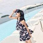 Set: Floral Swim Top + Swim Skirt 1596