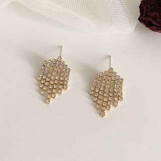 Rhinestone | Earring | Silver | Gold | Size | One