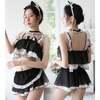 Costume | Black | Lady | Size | Cat | One | Set