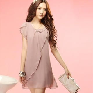 "Buy Tokyo Fashion Rhinestone ""Bow"" Chiffon Dress 1023062829"