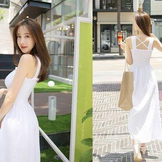 Sleeveless Smocked Maxi Dress 1060510431