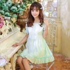 Short-Sleeve Frilled Trim Dress 1596