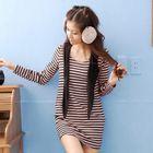 Striped T-Shirt Dress 1596
