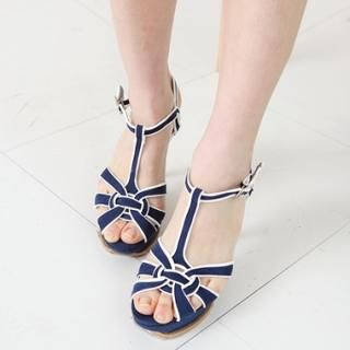 Buy Drama T-Strap Sandals 1022581474