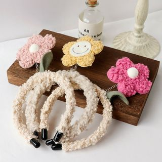 Image of Chenille Flower Headband